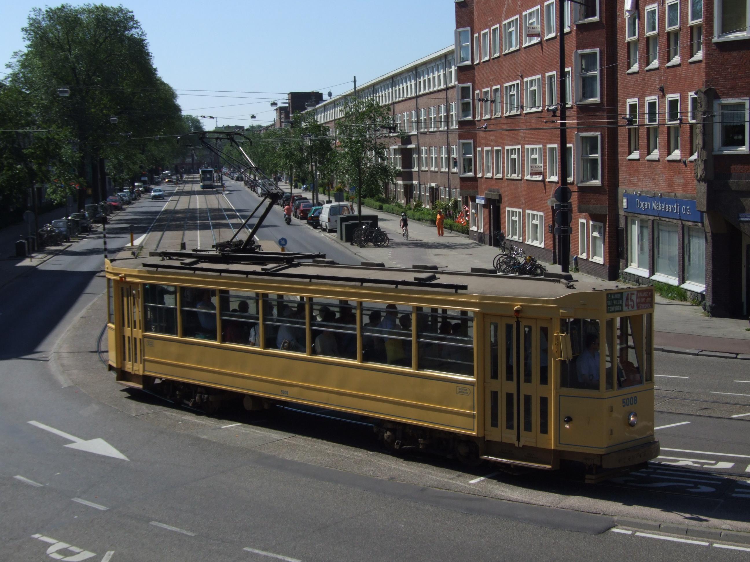 6: Kopenhagen Tram 575 with trailor 1578 came from Danish Sporvejsmuseet  Skjoldenæsholm, at Mercatorplain.